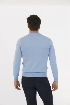 Sweater Algodon Viscosa Celeste en internet
