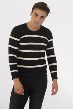 Sweater Punto Resorte Negro