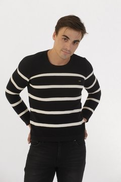 Sweater Punto Resorte Negro - comprar online