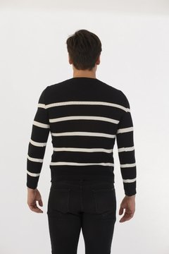 Sweater Punto Resorte Negro en internet