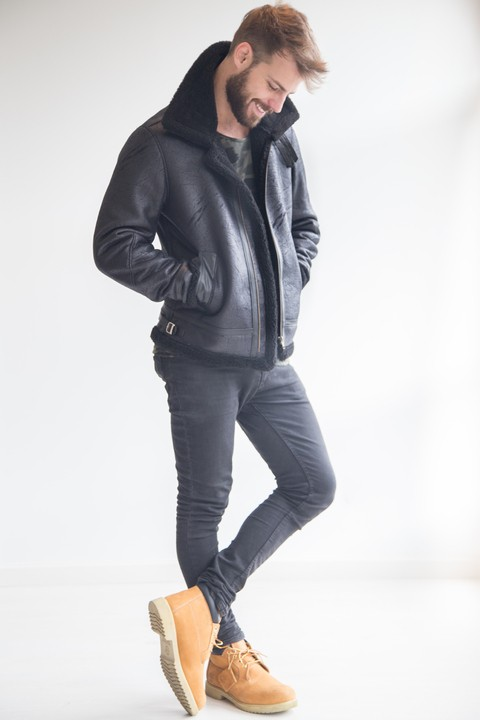 Jacket WOOL Faux Leather