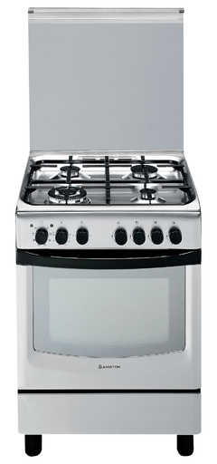 ARISTON COCINA MIXTA 60X60 ITALIA METALICA CX 650S P1 (X)AG ANAFE GAS Y HORNO ELECTRICO