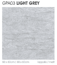 PORCELANATO PARK AVENUE LIGHT GREY 60X60 NIRO GRANITE RECTIFICADO IMPORTADO SUIZO