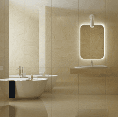 PORCELANATO TRAVERTINO HABANO PULIDO 120X60 NIRO GRANITE RECTIFICADO IMPORTADO SUIZO