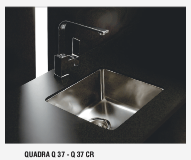 JOHNSON QUADRA Q37 BACHA SIMPLE COCINA BAJO MESADA