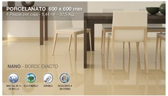 AS PORCELANATO PULIDO BEIGE MARFIL BRILLANTE 60X60 RECTIFICADO NANOPULIDO SUPERGLOSS