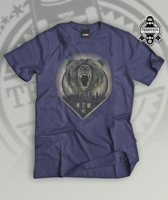 camiseta de urso new skate culture azul