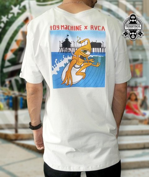 Camiseta SURFER - Toy Machine X RVCA Cinza