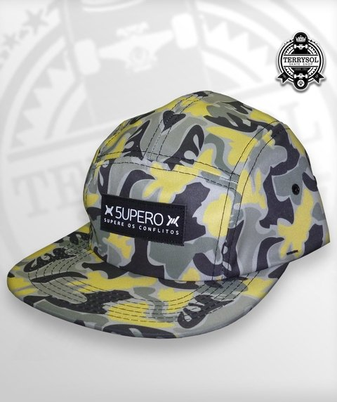 BONÉ FIVE PANEL SUPERO CAMUFLADO