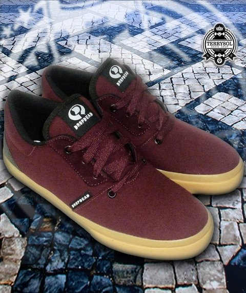 TÊNIS DROPDEAD - DECK MESH  Bordo Natural