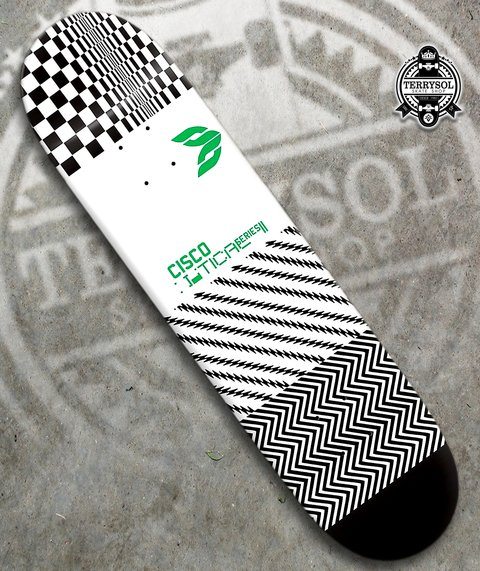 SHAPE DE SKATE CISCO FN+R OPTICAL SÉRIES GREEN - 8,125