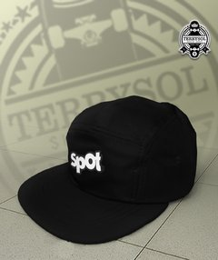 boné 5 five panel azul preto
