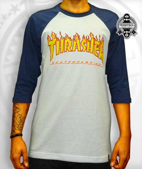 CAMISETA FLAME FIRE RAGLAN 3/4 - THRASHER na internet