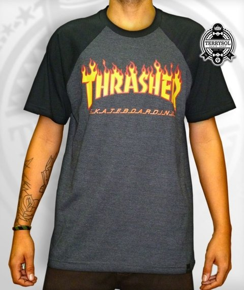 CAMISETA FLAME FIRE RAGLAN - THRASHER