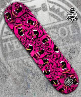 Shape Santa Cruz - Screaming Hand PINK - comprar online