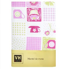 Mantel VH Fabrics Rectangular 2,50 mts Diseño Tea Time
