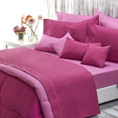 Sabana Danubio Colors King Size 200 Hilos Color Magenta Haze