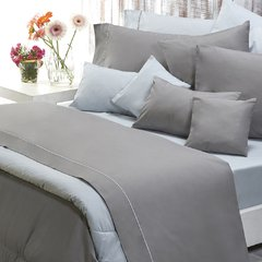 Sabana Danubio Colors 2 Plazas 200 Hilos Color Gray Flannel