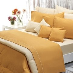 Sabana Danubio Colors King Size 200 Hilos Color Golden Apricot
