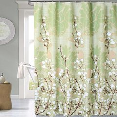 Cortina Baño Lino Diseño Cotton Flowers