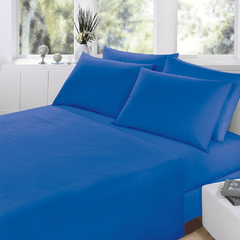 Sabana Prata Lisa 2 Plazas Color Azul Francia