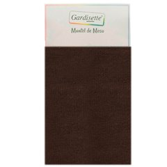 Mantel Gabardina Liso Rectangular 2,00 mts Color Chocolate