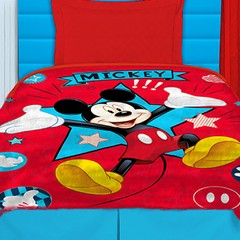 Frazada Disney Piñata Flannel Fleece 1 Plaza Diseño Mickey