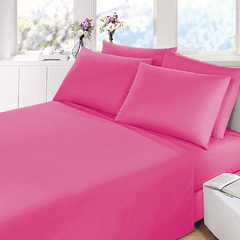 Sabana Prata Lisa 2 Plazas Color Fucsia