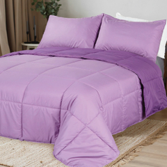 Acolchado Simil Plumon Reversible 2 Plazas Kavanagh Color Violeta
