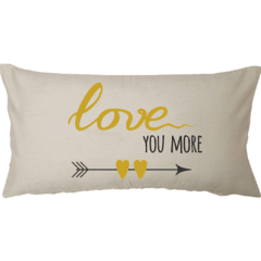 Funda de Almohadon 30x60 VH Fabrics Diseño Love You More