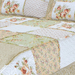 Quilt Patchwork Liberty Queen Size Diseño Montreal