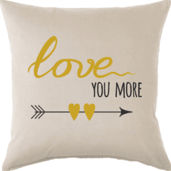 Funda de Almohadon 40x40 VH Fabrics Diseño Love You More