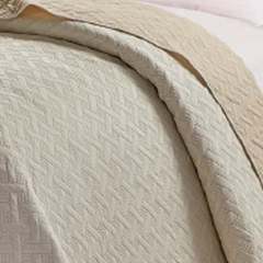 Cover Quilt Kavanagh 1 Plaza Bicolor Natural con Beige