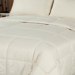 Acolchado Simil Plumon Reversible King Size Kavanagh Color Natural