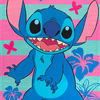 Toallon Playero Disney Piñata Diseño Stitch
