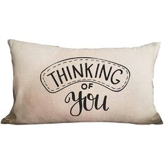 Funda de Almohadon 30x60 VH Fabrics Diseño Thinking of You