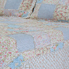 Quilt Patchwork Liberty Queen Size Diseño Valencia