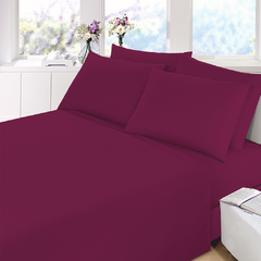 Sabana Prata Lisa Queen Size Color Violeta