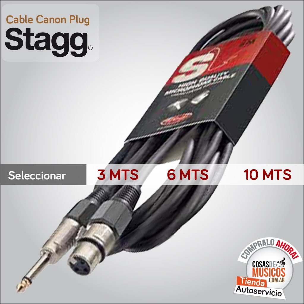CABLE CANON PLUG STAGG STANDARD X MEDIDA