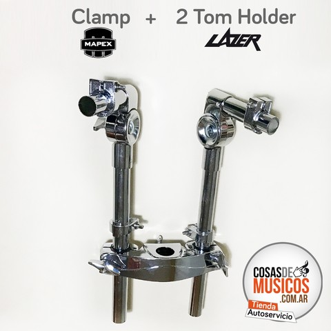 Clamp + 2 Tom Holder