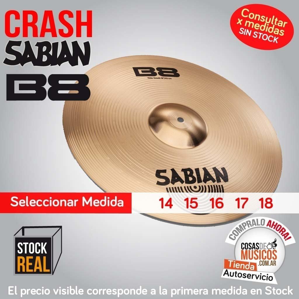 Crash Sabian B8 precio x medida