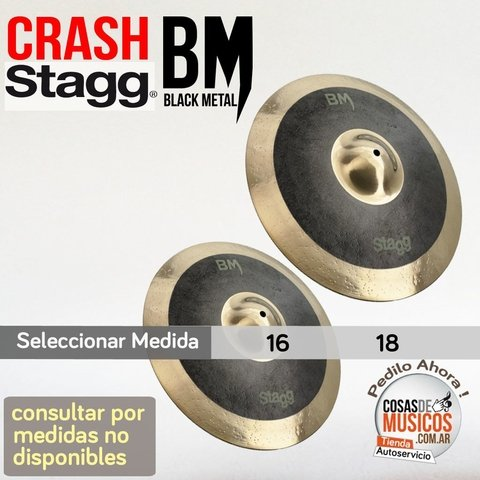Crash Stagg  BLACK METAL precio x medida