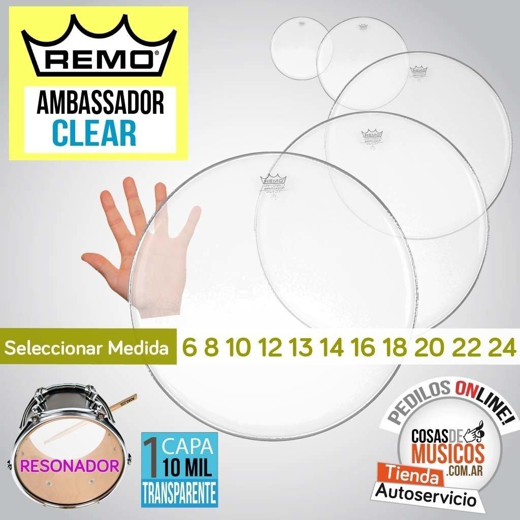 Parche Remo Ambassador Clear x Medida