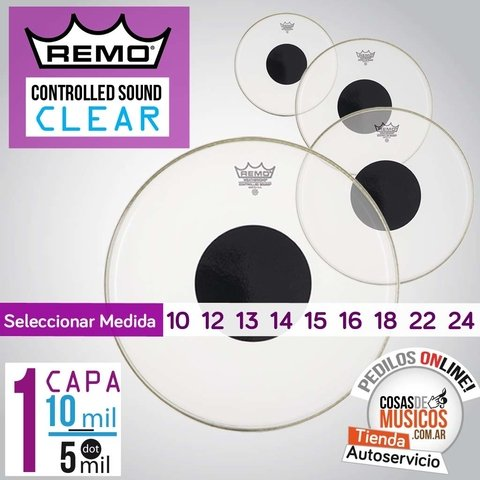 Parche Remo Controlled Sound Clear x Medida