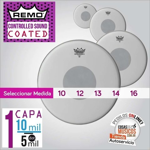 Parche REMO Controlled Sound Coated  x Medida