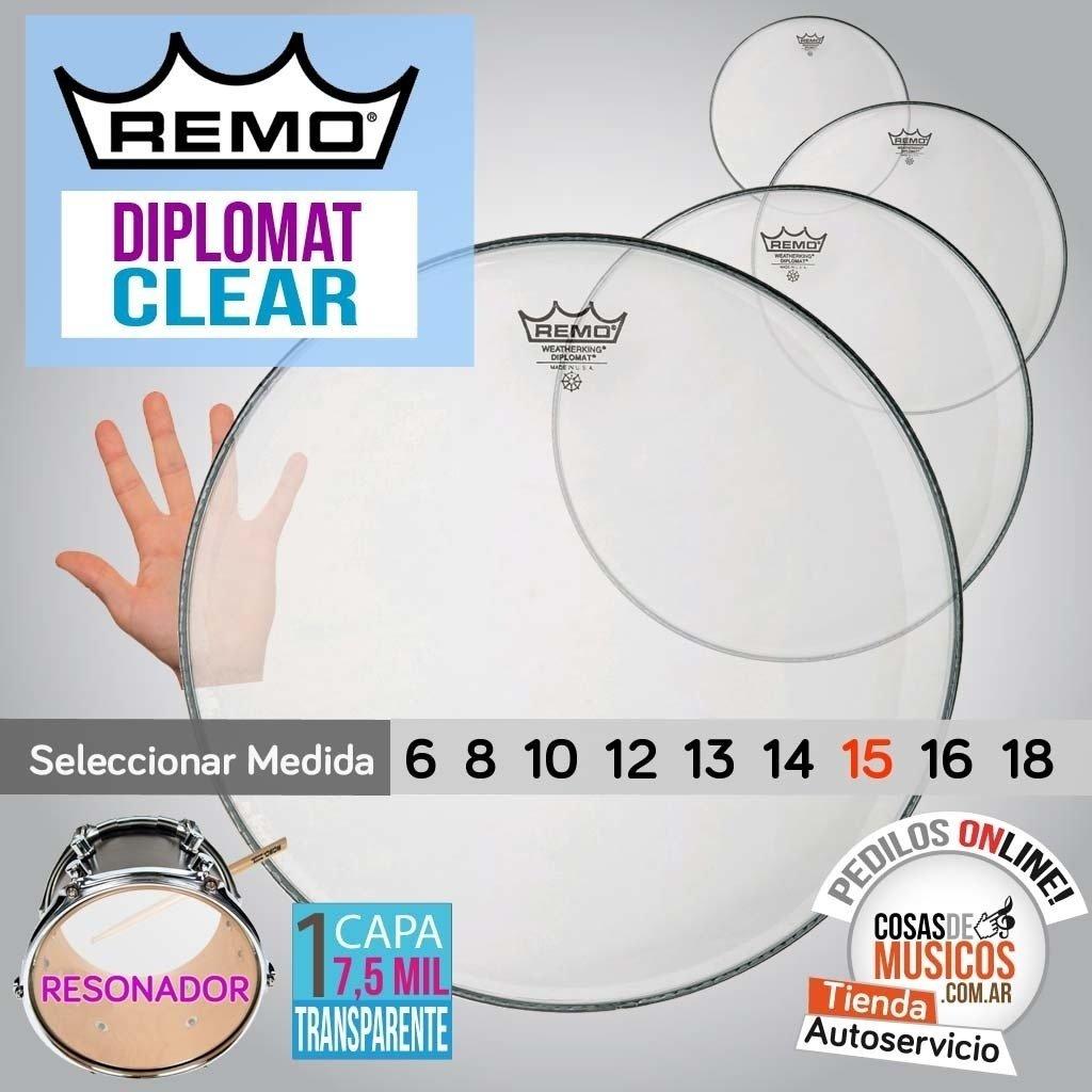 Parche Resonador REMO Diplomat Clear x Medida