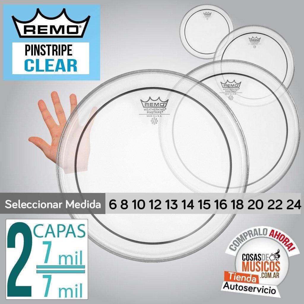 Parche Remo Pinstripe Clear x Medida