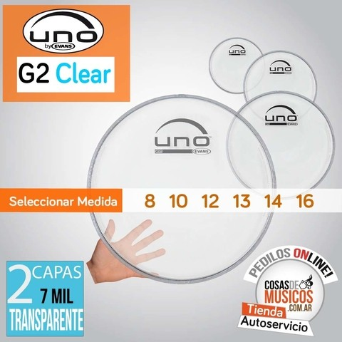 Parche UNO G2 Clear by Evans x Medida
