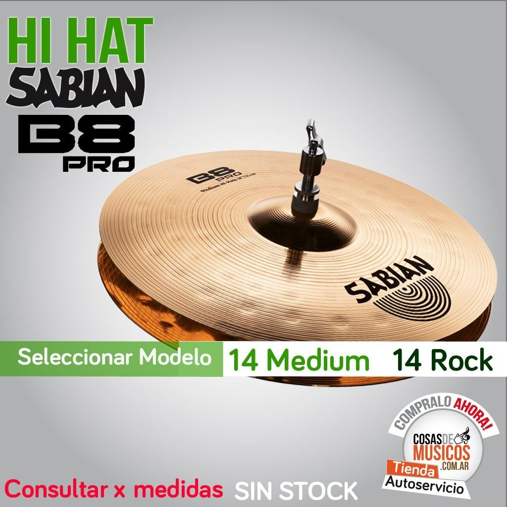 Hi Hat Sabian B8PRO x Modelo