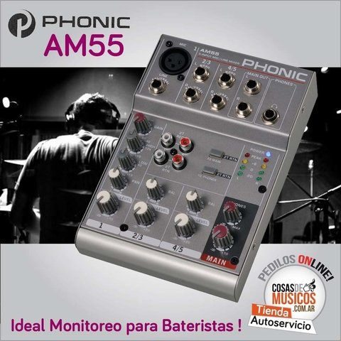Mixer Phonic AM55